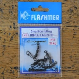 Emerillons Flashmer Rolling Triple à Agrafe