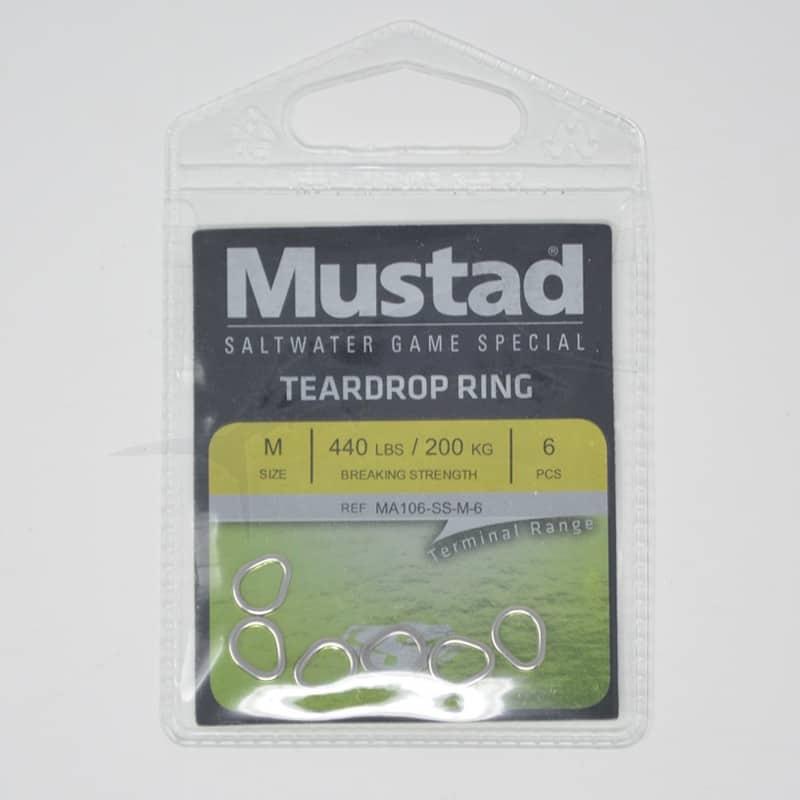 Mustad Teardrop Stainless Steel Ring (MA106-SS)