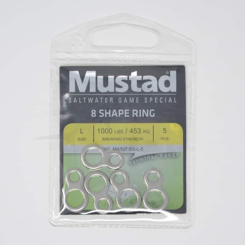 Mustad anneaux soudé en 8 (MA107-SS)