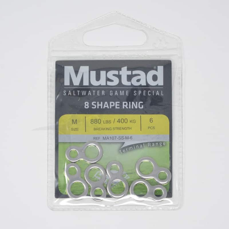 Mustad 8-Shape Stainless Steel Ring (MA107-SS)
