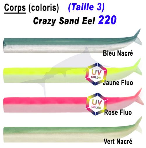 Fiiish Crazy Sand Eel 220 Bodies